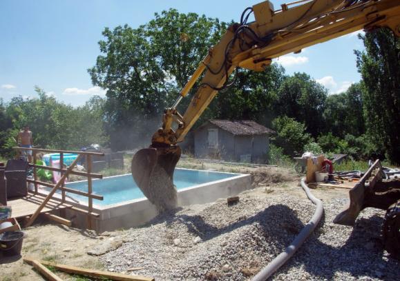 Terrassement création piscine